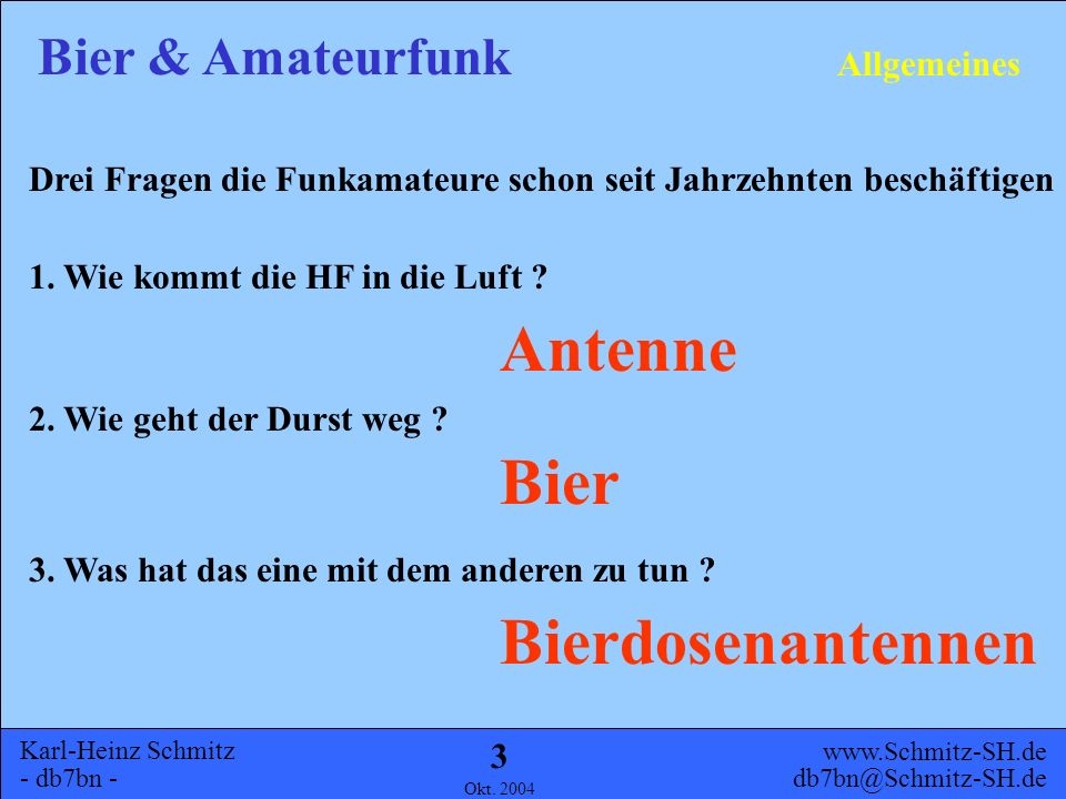 Antenne Bier Bierdosenantennen Allgemeines