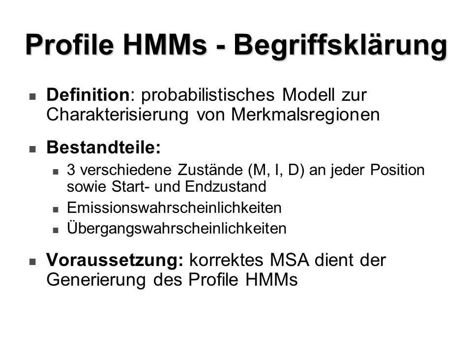 Profile HMMs - Begriffsklärung