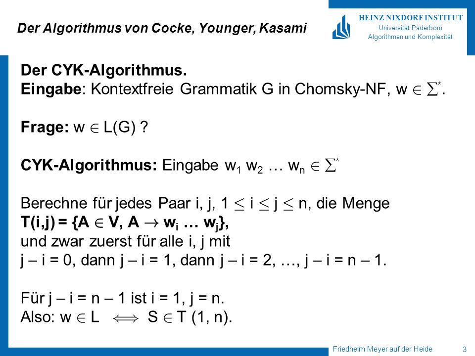 Der Algorithmus von Cocke, Younger, Kasami