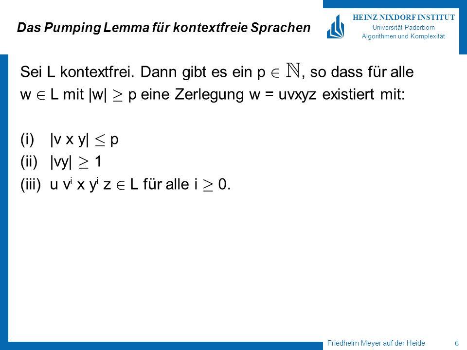 Das Pumping Lemma für kontextfreie Sprachen