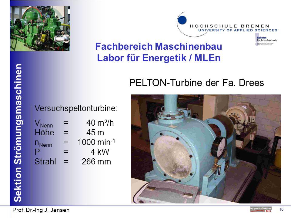 Fachbereich Maschinenbau Labor für Energetik / MLEn