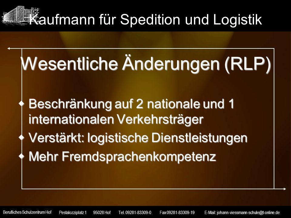 Kaufmann für Spedition und Logistik