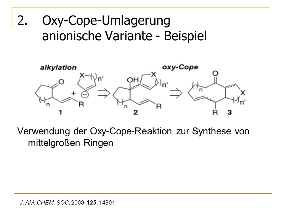 Oxy-Cope-Umlagerung anionische Variante - Beispiel