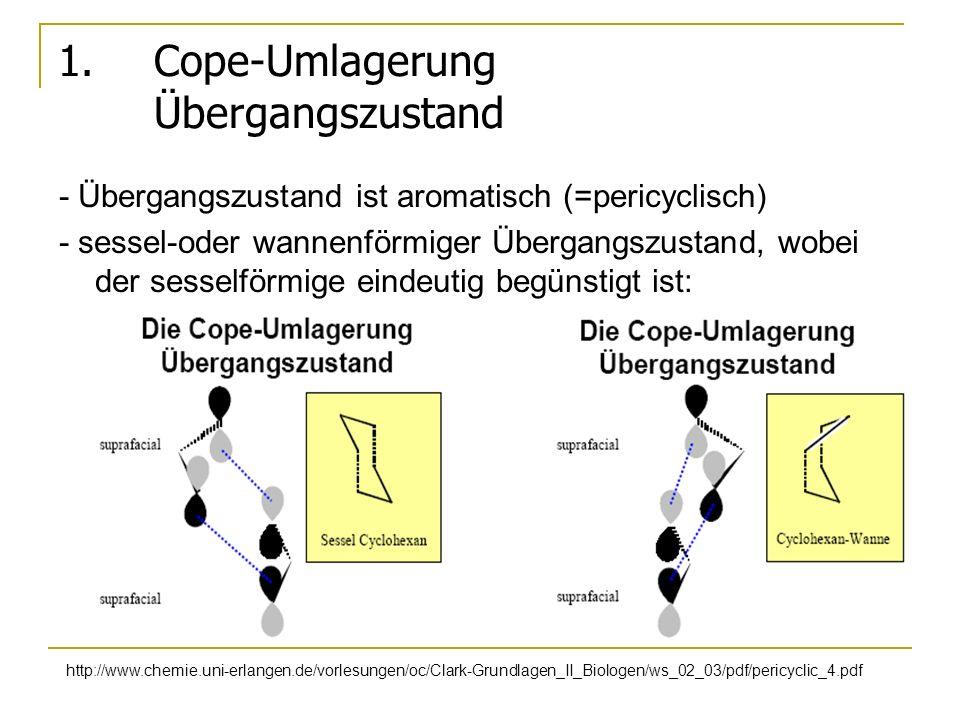 1. Cope-Umlagerung Übergangszustand