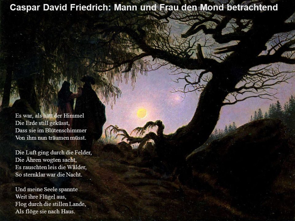 Caspar David Friedrich: Mann und Frau den Mond betrachtend