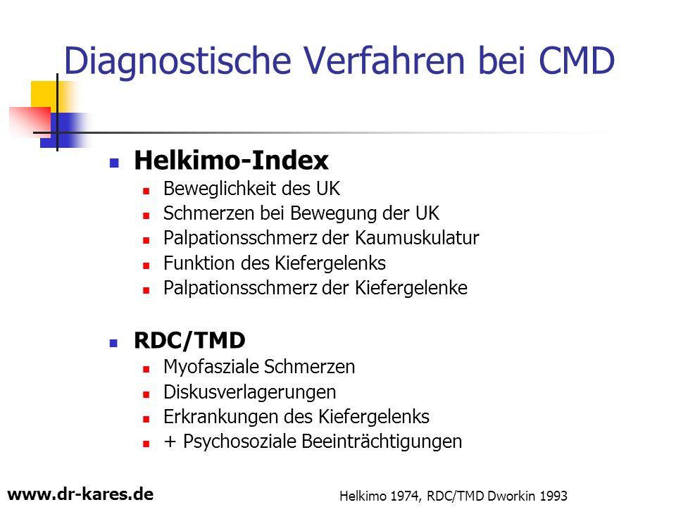 Diagnostische Verfahren bei CMD