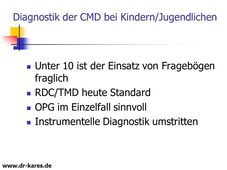 Diagnostik der CMD bei Kindern/Jugendlichen