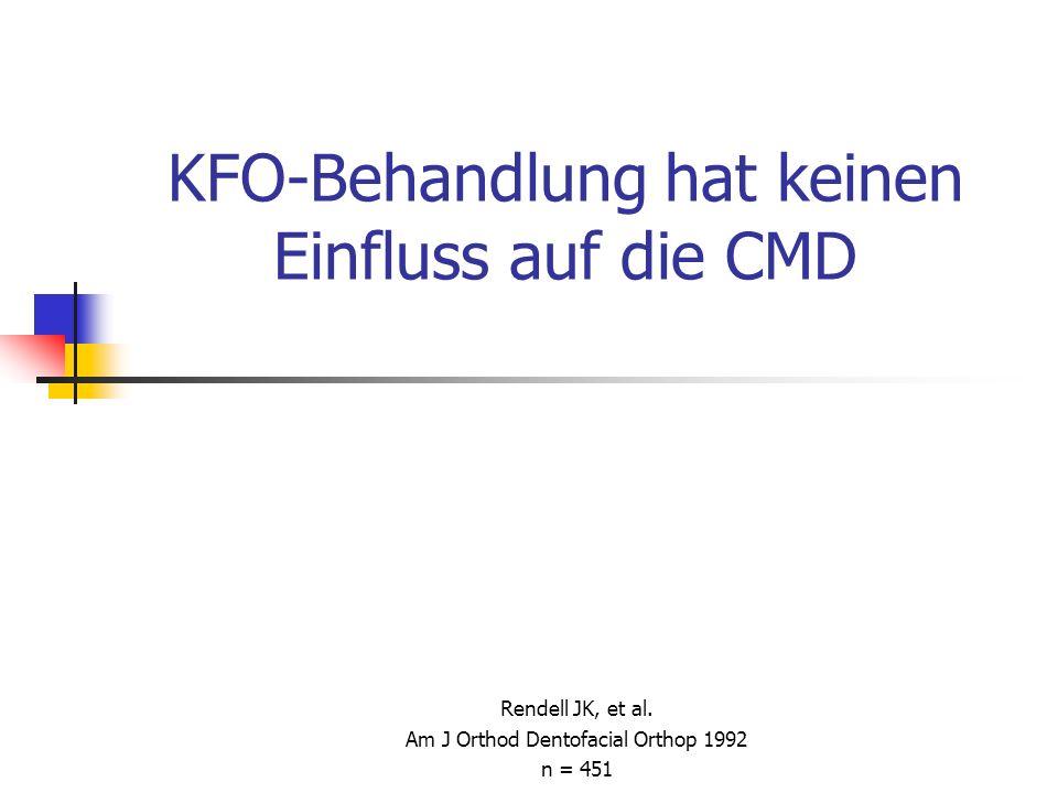 KFO-Behandlung hat keinen Einfluss auf die CMD