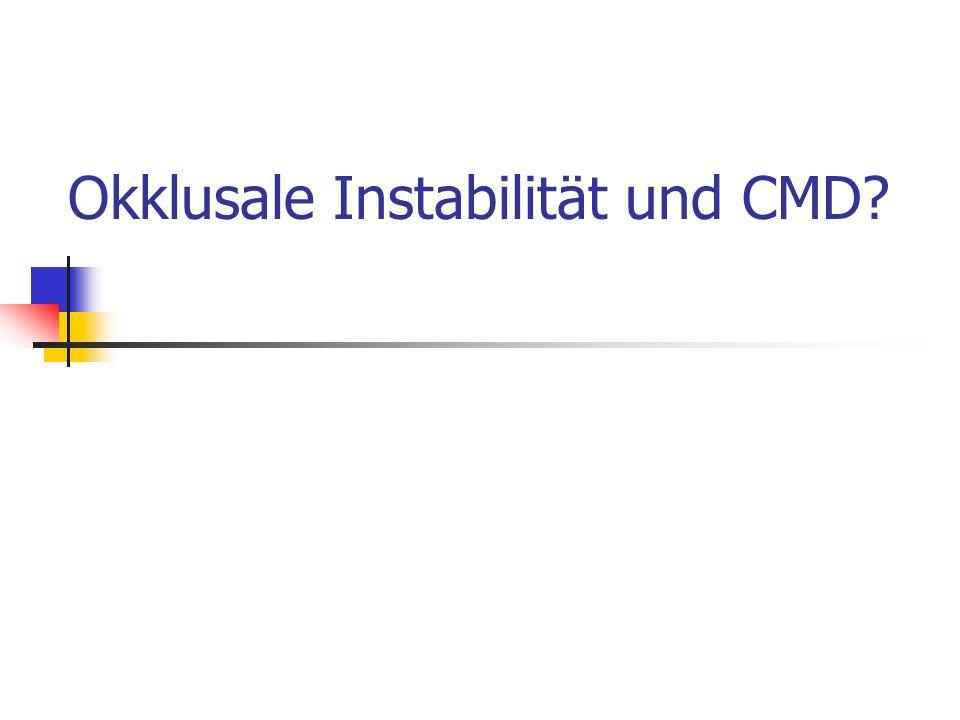 Okklusale Instabilität und CMD