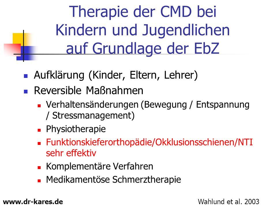 Therapie der CMD bei Kindern und Jugendlichen auf Grundlage der EbZ