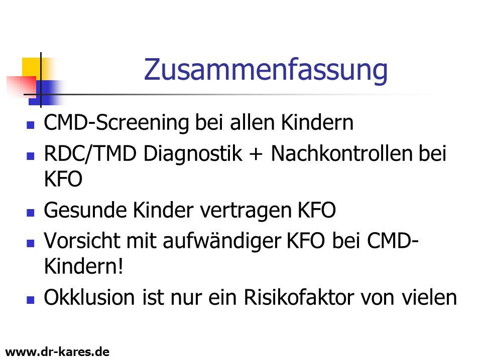 Zusammenfassung CMD-Screening bei allen Kindern