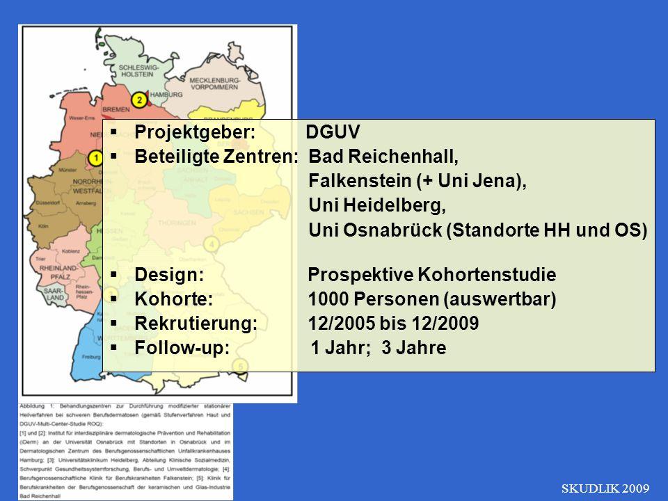 Beteiligte Zentren: Bad Reichenhall, Falkenstein (+ Uni Jena),