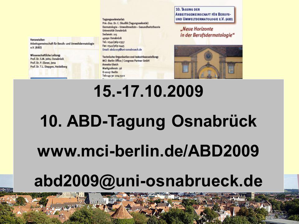 15.-17.10.2009 10. ABD-Tagung Osnabrück www.mci-berlin.de/ABD2009