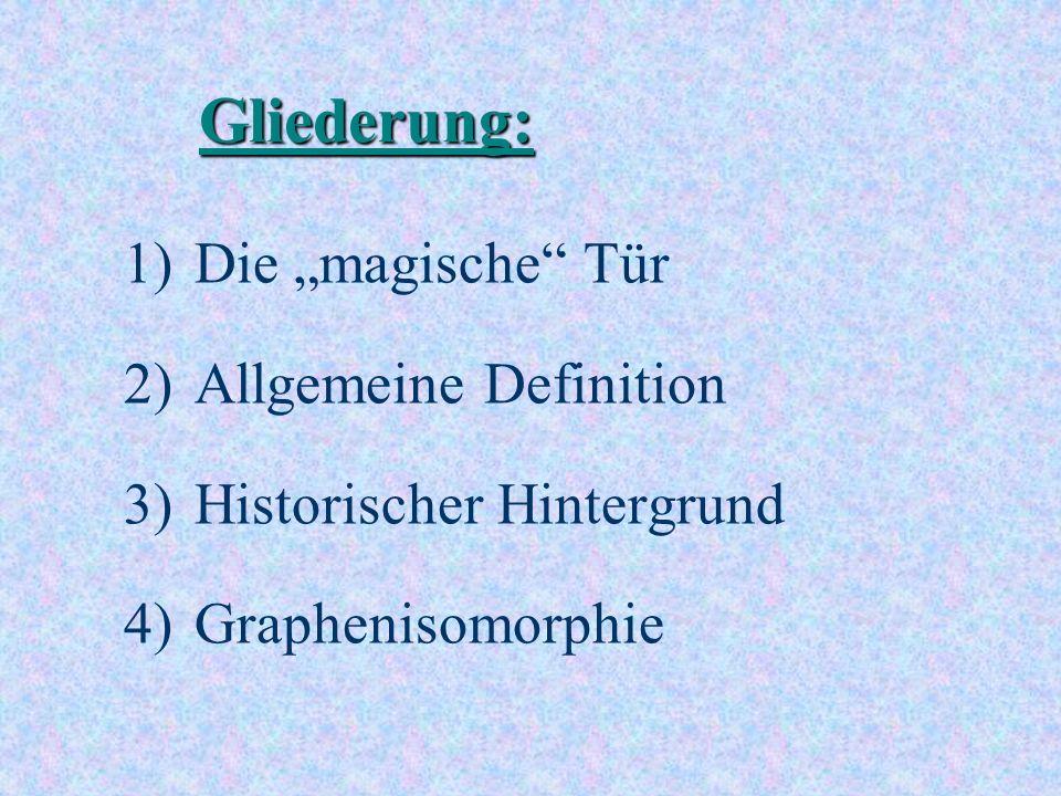 """Gliederung: Die """"magische Tür Allgemeine Definition"""