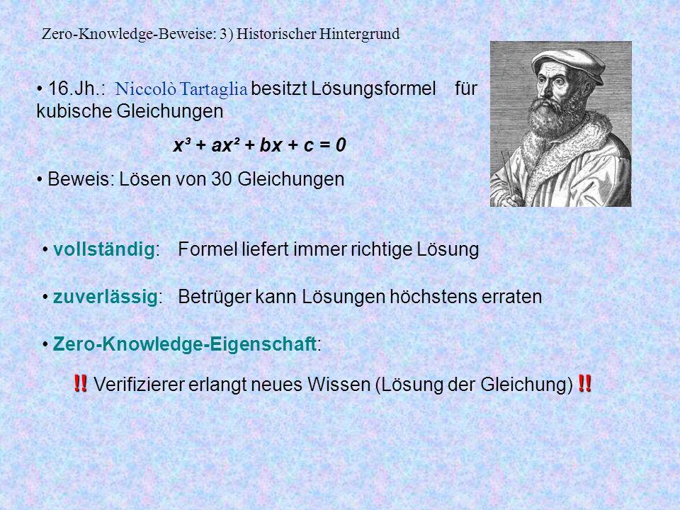 Zero-Knowledge-Beweise: 3) Historischer Hintergrund