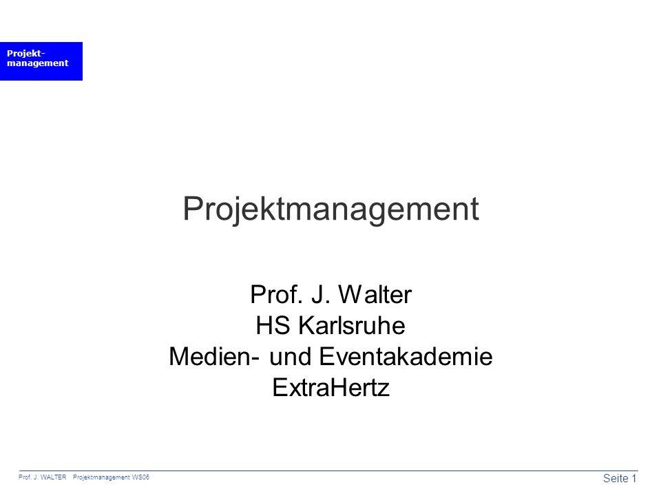 Prof. J. Walter HS Karlsruhe Medien- und Eventakademie ExtraHertz