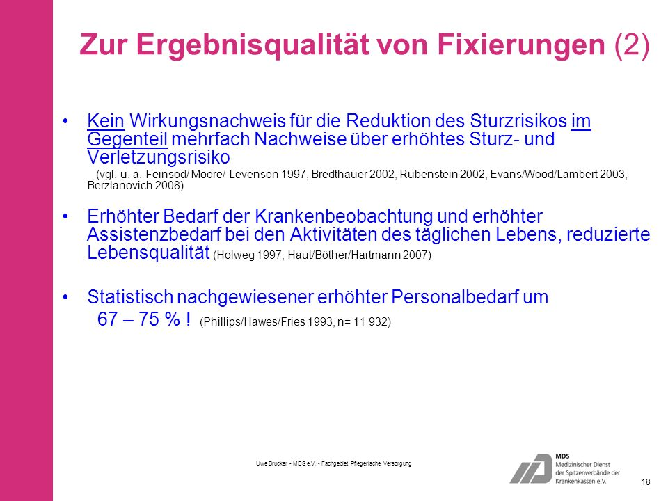 Zur Ergebnisqualität von Fixierungen (2)