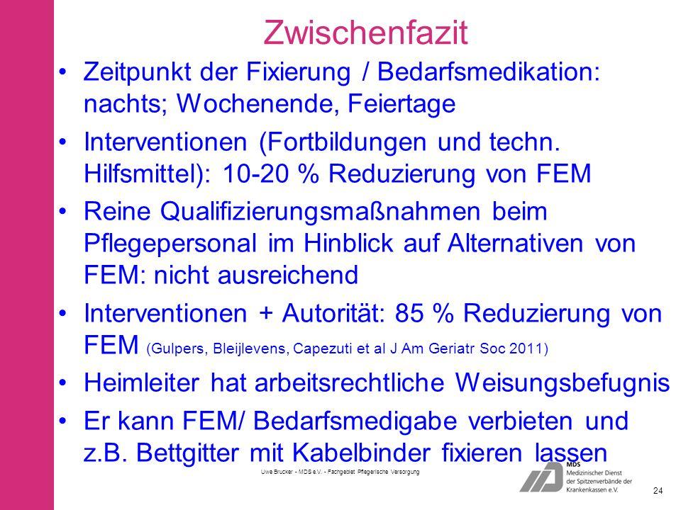 Uwe Brucker - MDS e.V. - Fachgebiet Pflegerische Versorgung