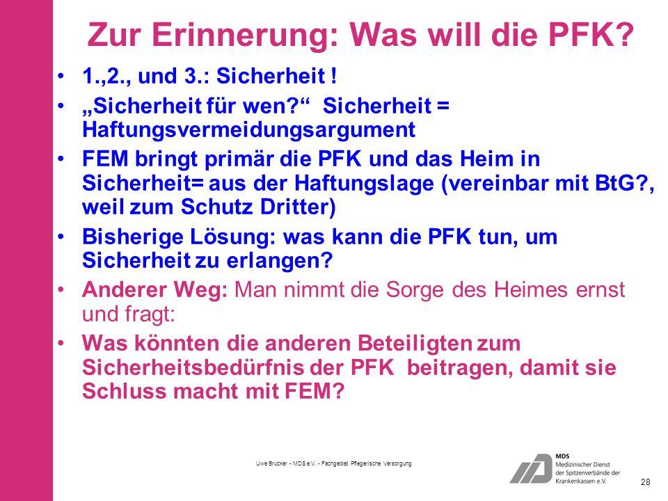 Zur Erinnerung: Was will die PFK