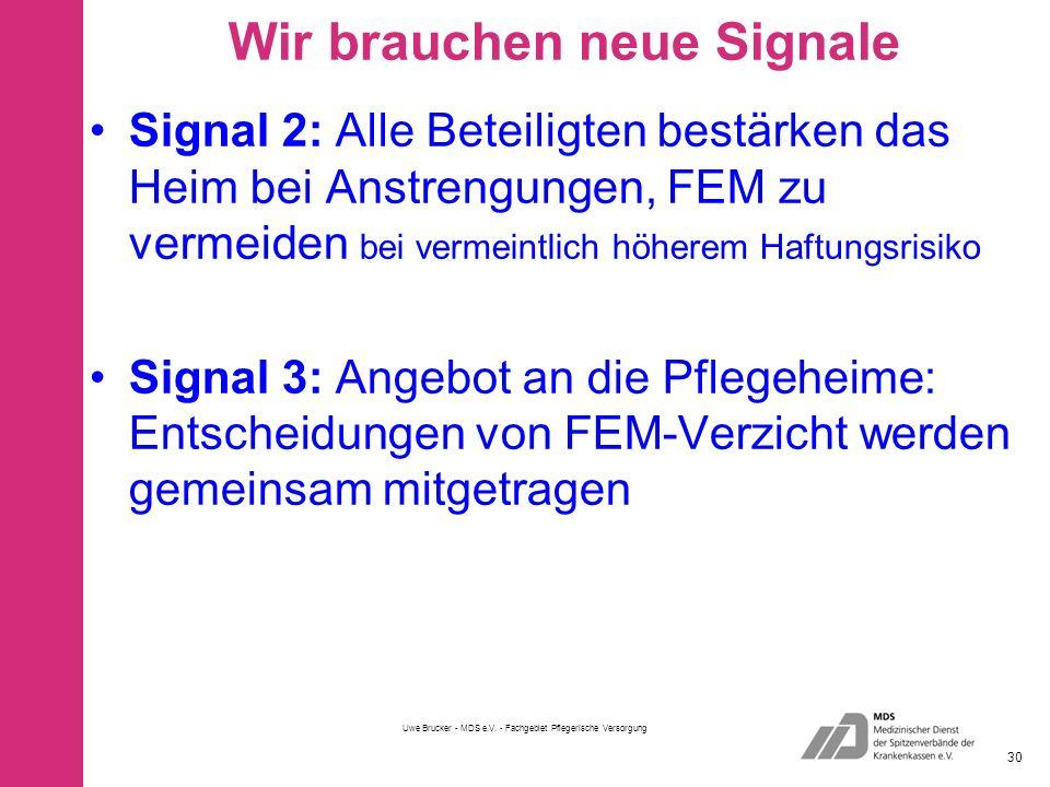Wir brauchen neue Signale