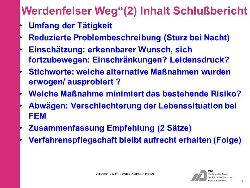 """""""Werdenfelser Weg (2) Inhalt Schlußbericht"""