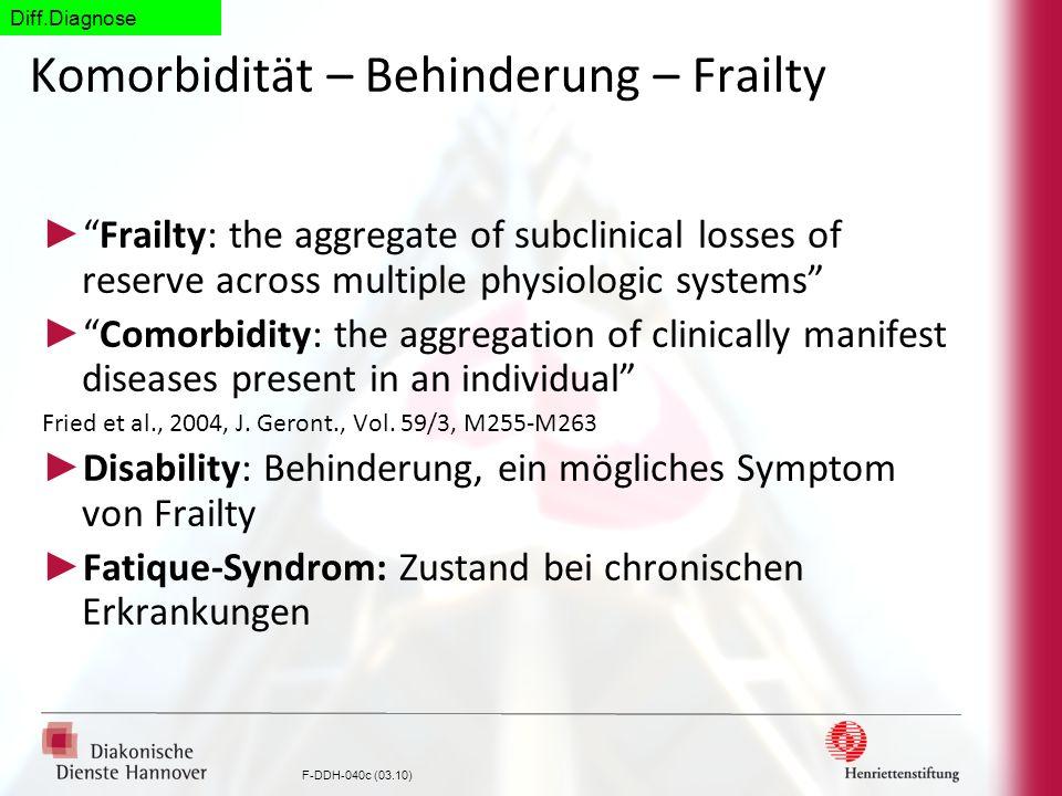 Komorbidität – Behinderung – Frailty