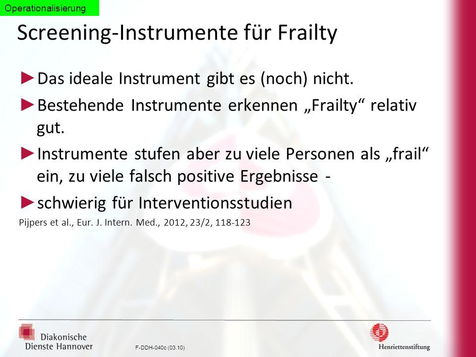 Screening-Instrumente für Frailty