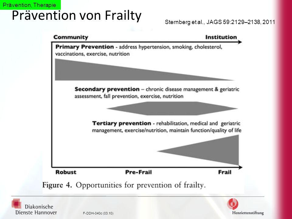 Prävention von Frailty