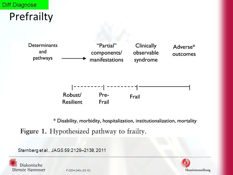 Diff.Diagnose Prefrailty Sternberg et al., JAGS 59:2129–2138, 2011
