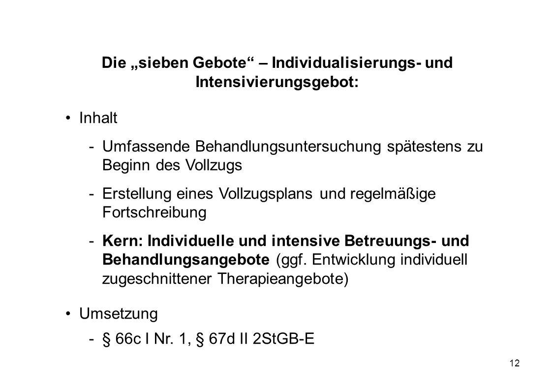 """Die """"sieben Gebote – Individualisierungs- und Intensivierungsgebot:"""