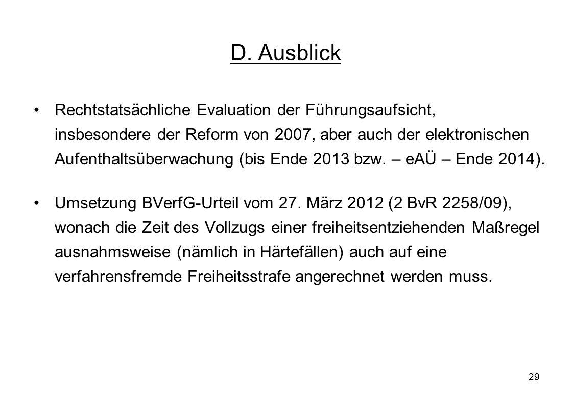 D. Ausblick