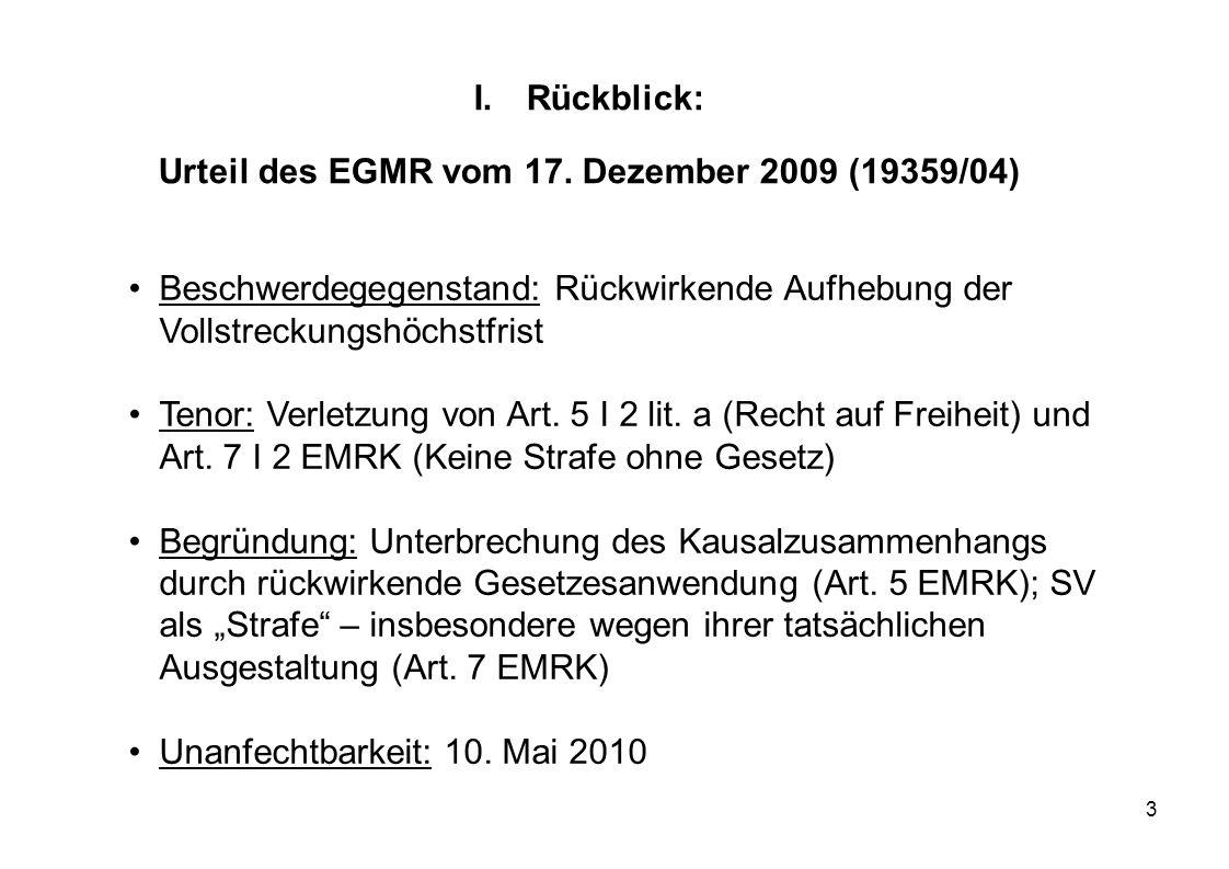 Urteil des EGMR vom 17. Dezember 2009 (19359/04)