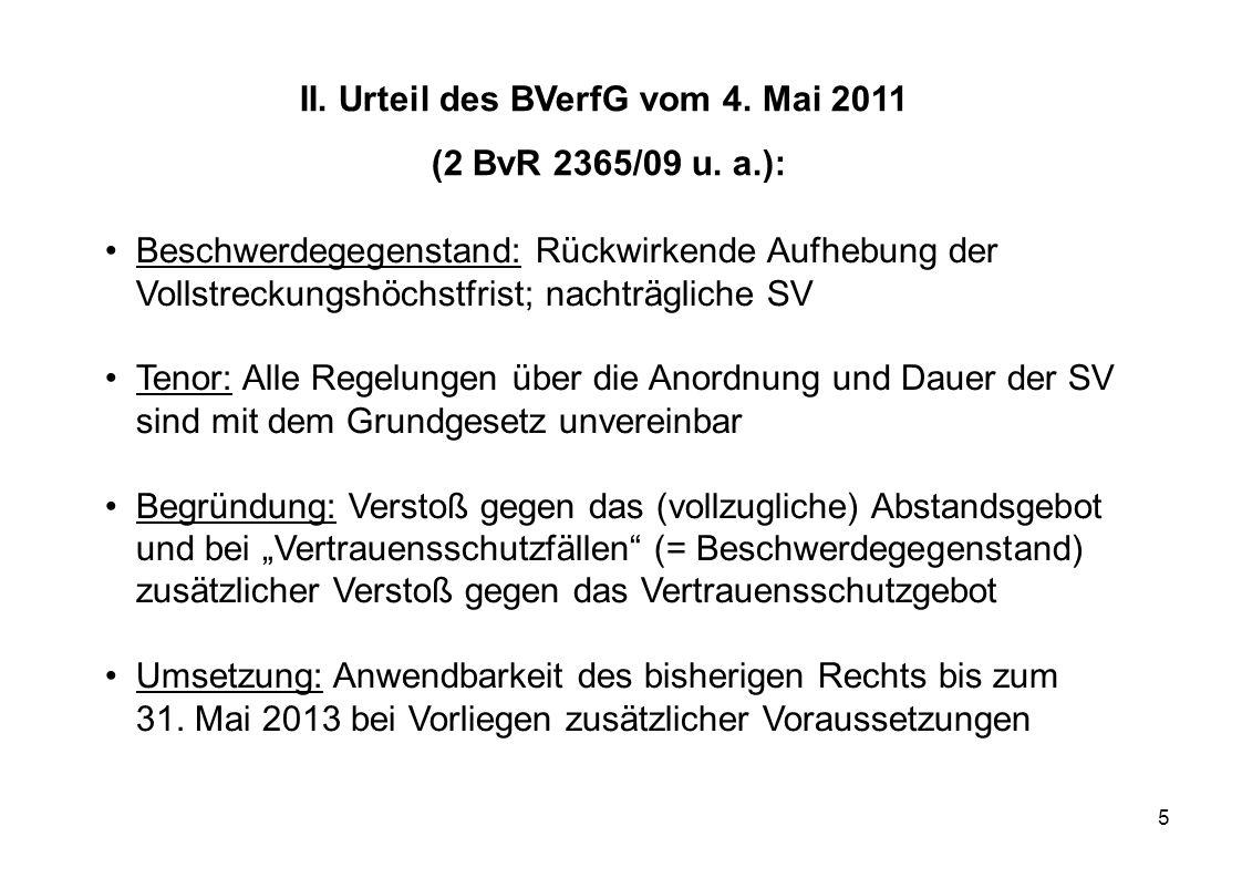 II. Urteil des BVerfG vom 4. Mai 2011