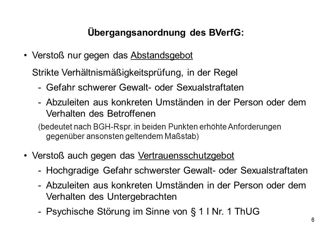 Übergangsanordnung des BVerfG:
