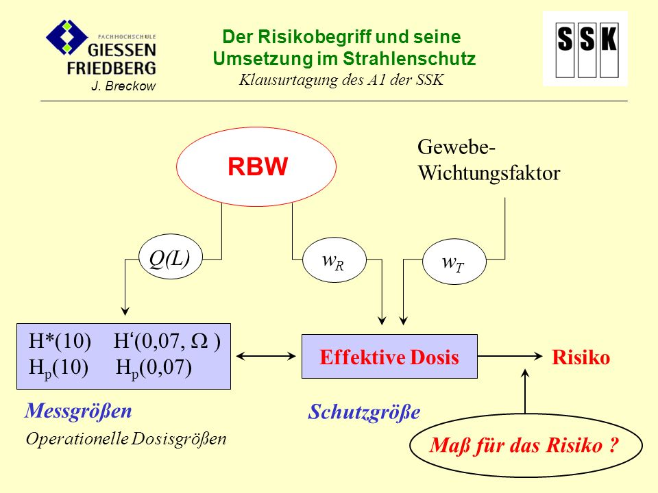 RBW wT Gewebe-Wichtungsfaktor Q(L) wR