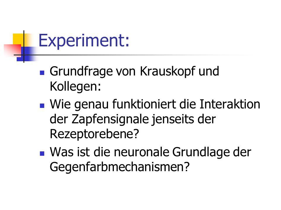 Experiment: Grundfrage von Krauskopf und Kollegen: