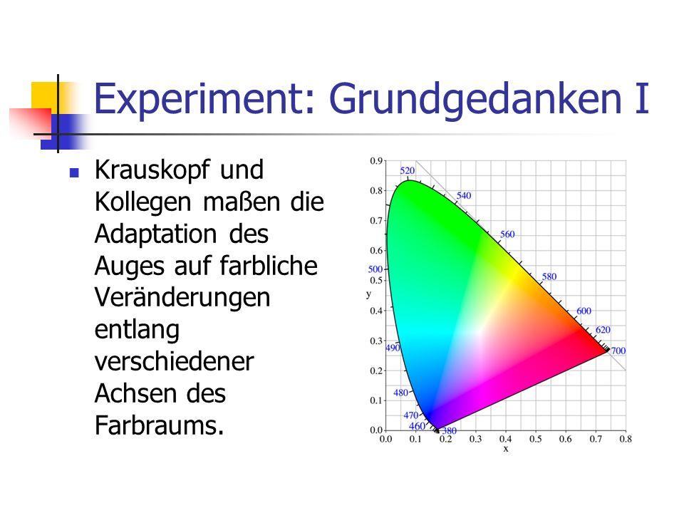 Experiment: Grundgedanken I
