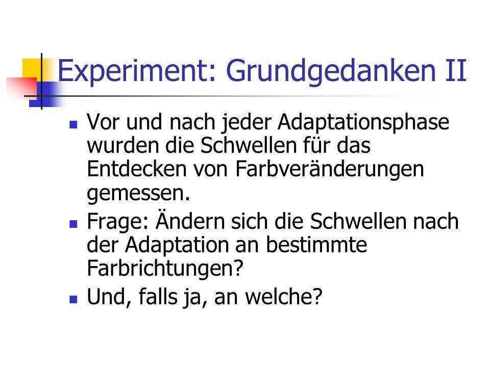 Experiment: Grundgedanken II