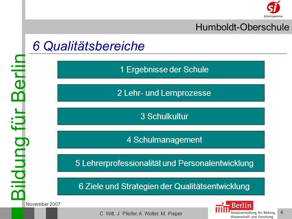 6 Qualitätsbereiche Lehrerprofessionalität und Personalentwicklung