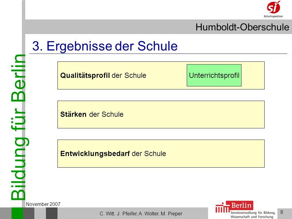 3. Ergebnisse der Schule Qualitätsprofil der Schule Unterrichtsprofil