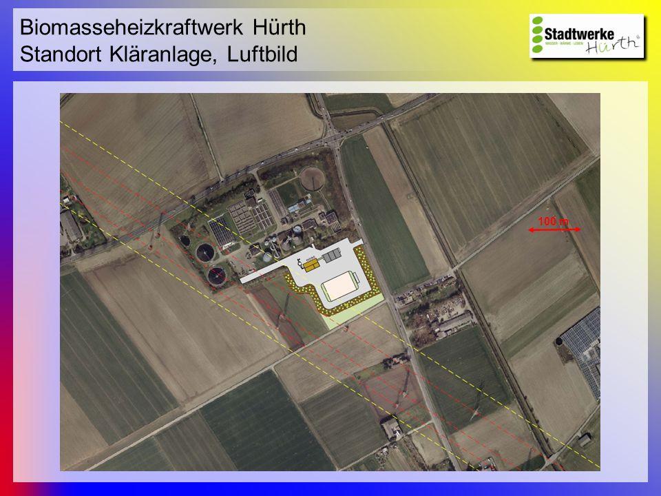 Biomasseheizkraftwerk Hürth Standort Kläranlage, Luftbild
