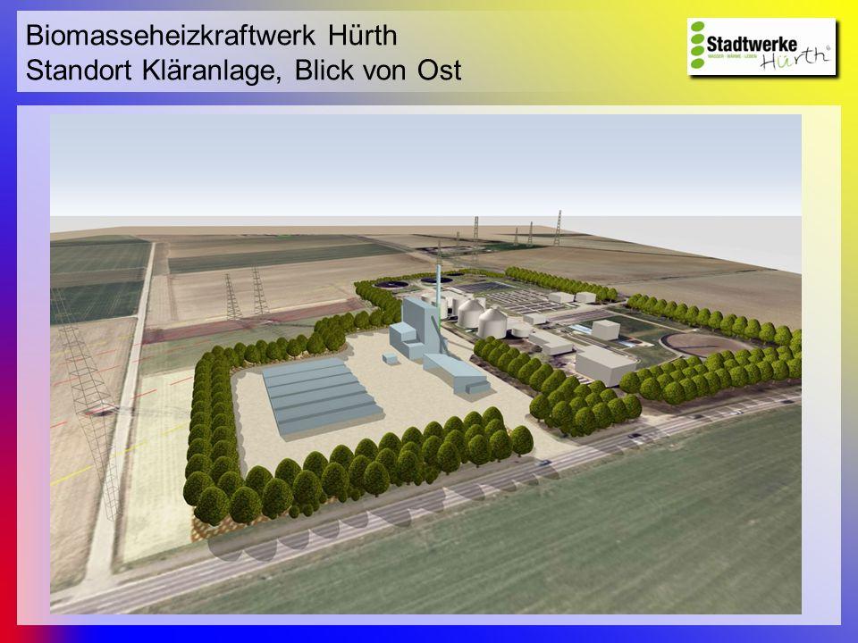 Biomasseheizkraftwerk Hürth Standort Kläranlage, Blick von Ost