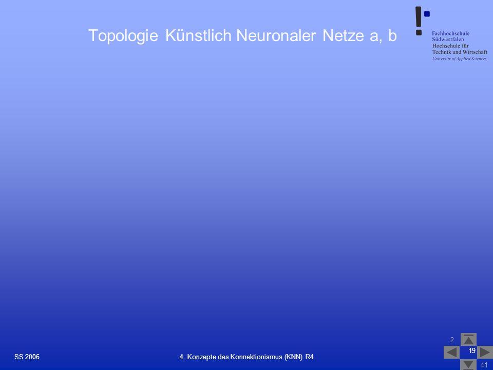 Topologie Künstlich Neuronaler Netze a, b