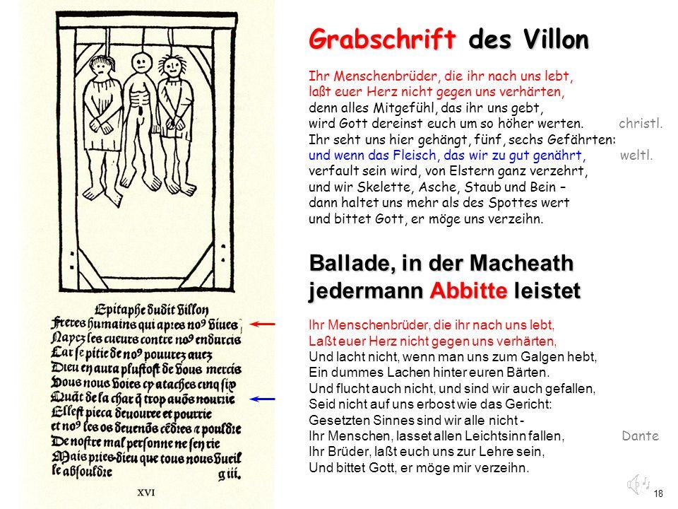 Grabschrift des Villon