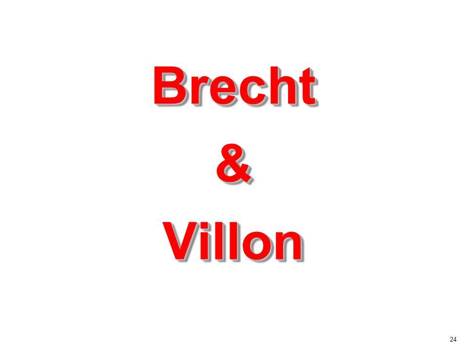 Brecht & Villon
