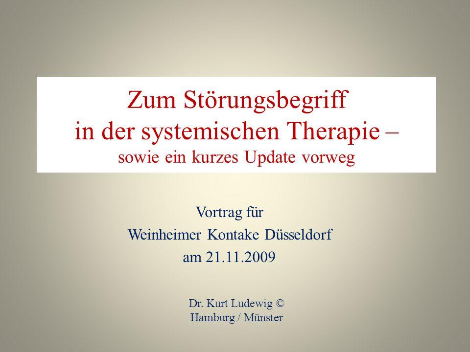 Vortrag für Weinheimer Kontake Düsseldorf am 21.11.2009