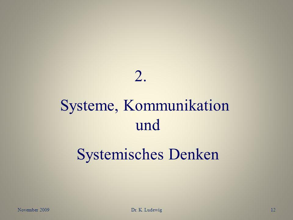 Systeme, Kommunikation und