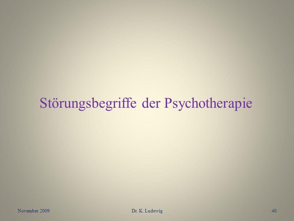 Störungsbegriffe der Psychotherapie