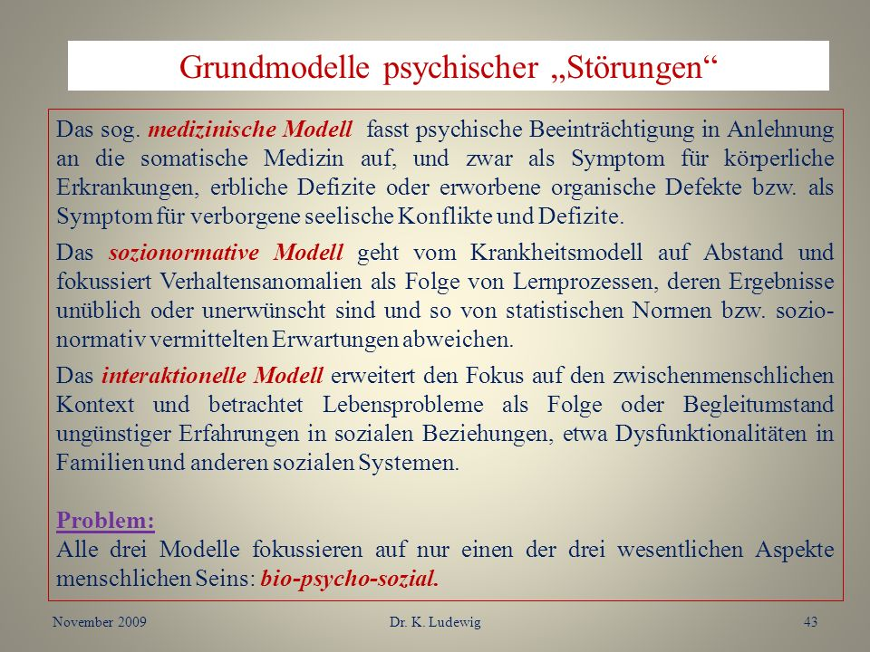 """Grundmodelle psychischer """"Störungen"""