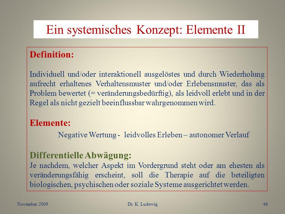 Ein systemisches Konzept: Elemente II